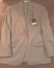 Mens 42R Ralph Lauren Slim Fit Tan Wool Summer  Two Button Suit & Trousers