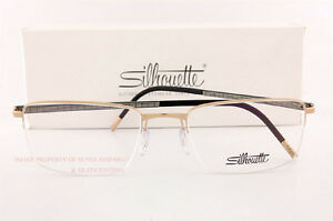 New Silhouette Eyeglass Frames Illusion Nylor Collection 5457 6051 Gold SZ 53