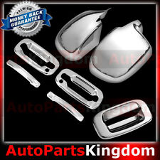 99-06 GMC Sierra Chrome Mirror+2 Door Handle+ w/Passenger Keyhole+Tailgate Cover