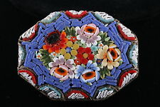 VINTAGE RM ITALY MOSAIC TILE BROOCH SIGNED FASHION 3615