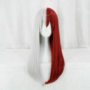 My Hero Academia Todoroki Shoto Straight Cosplay Long Wig Women Genderbend Hair