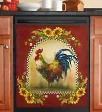 Dishwasher Magnet Kitchen Tools Bar Covers Art Refrigerator Rooster Sunflowers