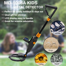 Kids Metal Detector Treasure Gold Hunting Search Deep Target Toys LCD Screen