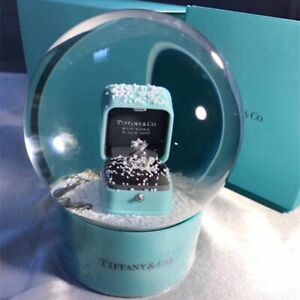 ❤️💍 Brand New Tiffany & Co VIP Gift Snow Globe With Ring❄️ Valentines Love