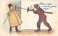 <A13> CHIMNEY SWEEP Postcard Good Luck New Years Comic Meets Eye Men 17