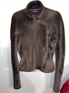 Patagonia Women's Re-tool Full Zip Fleece Brown Size Medium Nice!