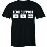 Tech Support Tshirt - Ctrl Alt Del Men T-shirt IT Technical Control Delete Nerd