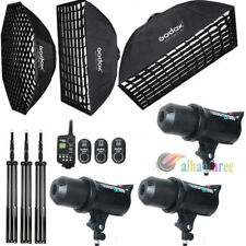 Godox DE300 3x300W Photography Studio Strobe Flash Light Softbox Trigger Kit