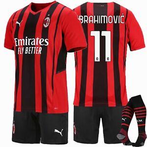 2021/22 New Season Club Home Kids Football Full Kits Boys Soccer Jersey Strips