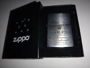 Year 2007 Zippo Lighter ROLEX Geneva MASTERPIECE WATCH CRAFTSMANSHIP Logo + Box