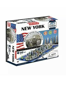 4D Cityscape Jigsaw Puzzle - New York City Map With Time Layer