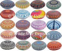 "Indian Round Mandala Floor Cushion Cover 32"" Meditation Ottoman Pouf Pillow Case"