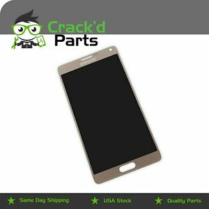 Samsung Note 4 Original OEM Gold AMOLED N910 LCD Touch Screen Replacement