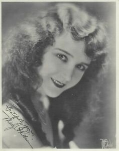 """Mary Philbin 1920's Vintage B&W 7.5"""" x 9.5"""" Cardstock Matte Publicity Photo"""