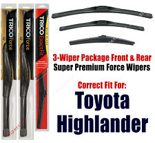 Wiper Blades Trico 3-Pack Front/Rear fits 2008+ Toyota Highlander 25260/200/12a