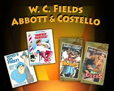 ABBOTT & COSTELLO and W. C. FIELDS 2 Books 3 Videos 1 Audio Radio Show