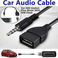 Male Audio AUX Jack to USB 2.0 Type A Female OTG Converter 18cm Adapter R6X9