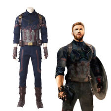 Cafiona 2018 Newest Avengers Infinity War Captain America Cosplay Costume Cool