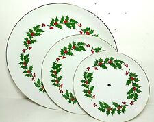 Vintage Japan 🇯🇵 Three Tier Cake Stand Plates only Christmas Holiday