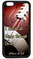 NFL Football Case Cover for iPhone 4s 5 5s 5c 6 Plus Christian Jesus Bible verse