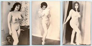 3 POSTCARDS - c1960s nude/underwear erotic glamour models women sexy risque
