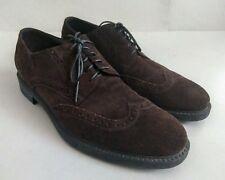 Ermenegildo Zegna Brown Suede Brogues Oxford Lace Up Shoes  Sz 9.5