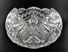 VINTAGE AMERICAN BRILLIANT PERIOD GLASS BOWL (E46)