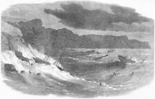 BALAKLAVA. Storm in Bay. Medora, Vulcan Mercia, antique print, 1854