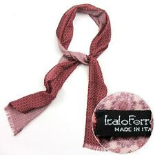 New ITALO FERRETTI Red Floral Cashmere Silk Scarf Shawl Wrap NIB $495