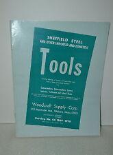 1969-1970 WOODCRAFT SUPPLY CORP. SHEFFIELD STEEL TOOLS CATALOG 44  (JRW #058)