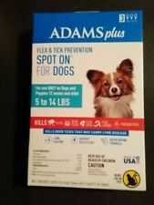 Adams Plus Spot On Flea &Tick Prevention For Dogs 5-14 Lbs 3 Month Supply