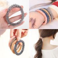 Women Rhinestone Crystal Stretch Elastic Beads Cuff Bracelet Bangle Jewelry DIY