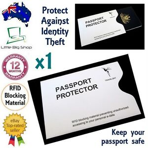 1 x New Passport Protector RFID Blocking Security Sleeve Anti-Theft Defender