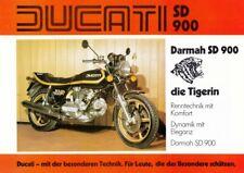 P + DUCATI Darmah SD 900 + Prospekt flyer Werbung + 1 Blatt / 2 Seiten