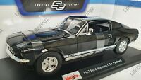 MAISTO 1:18 Scale Diecast Model Car 1967 Ford Mustang GTA Fastback in Black