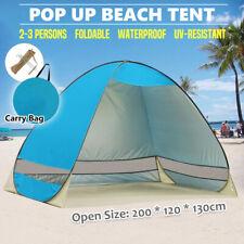 KEUMER 4 Person Large Pop Up Beach Tent - Blue