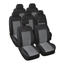 Sitzbezüge Chevrolet Orlando ab 10 7-Sitze Maß PKW Schonbezüge Schwarz Sitzbezug