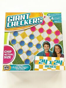 Giant Checkers Indoor/Outdoor Game Anker Play Products NEW