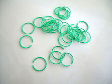 1 Ear Septum Nose Lip Ring Fake 20g Look No Piercing Needed Brite Green Plated