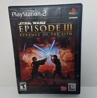 Star Wars: Episode III 3 Revenge of the Sith for PS2 + Manual Sony Playstation
