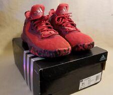 Adidas Damian D Lillard 2 Basketball Shoes Size 7.5 - Scarlet Red Maroon Dame