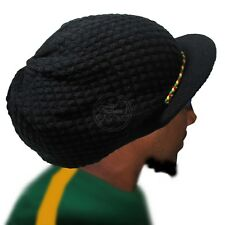 Rasta Roots Hat Cap Crown Tassel Visor Reggae Marley Jamaica Rastafari L/XL Fit