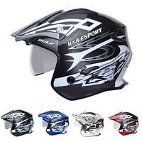 Wulfsport Vista Trials Helmet With Drop-Down Clear Visor Crash Quad Moped ATV