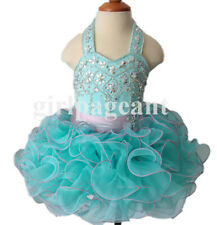 Infant/toddler/baby/children beading Pageant Dress073-4 with hairbow