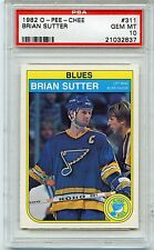 1982 O-PEE-CHEE HOCKEY BRIAN SUTTER #311 BLUES PSA 10 GEM MINT 1 OF 9