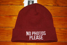 NEW Women's Young and Reckless Y&R No Photos Please Knit Skull Beanie Hat