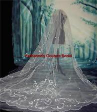 Wedding Veils White/Silver IN STOCK Cathedral Veil