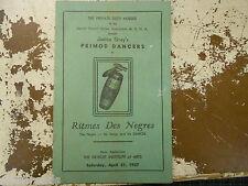 Janice Gray's PRIMOD DANCERS Detroit Inst of Arts -4/27/1957- Ritmes Des Negres