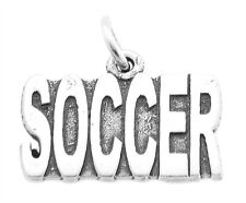 STERLING SILVER TALKING SOCCER CHARM / PENDANT