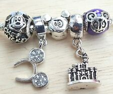 Disney Parks Chef Mickey D60 Purple Filigree CZ Headband European Bead Charm Set